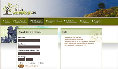 Ireland Marriage Records Free Olive Tree Genealogy Civil Records Free