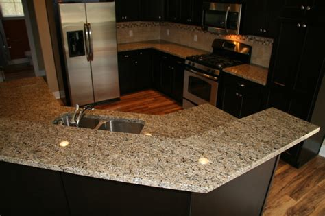 New Granite Countertops New Venetian Gold Granite Counter Traditional Kitchen