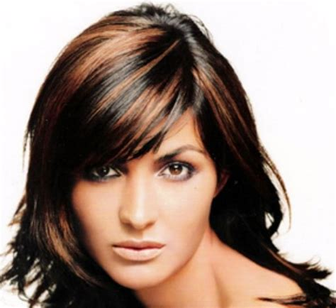 dark brown hair with copper highlights what s the best copper highlights on dark hair hair pinterest