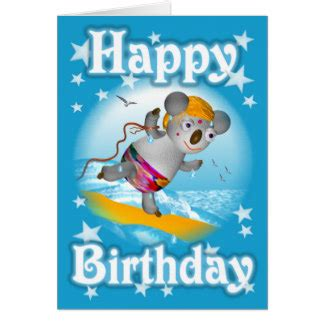 koala birthday card template koalas gifts t shirts posters other gift