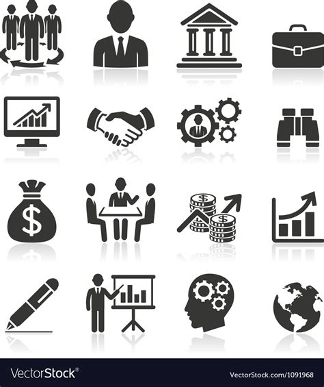 Vector Business Icons Set Royalty Free Stock Photos Image 1095468 Business Icons Royalty Free Vector Image Vectorstock