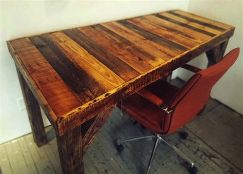 Reclaimed Wood Desk Diy Diy Pallet Desk Bob Vila Thumbs Up Bob Vila