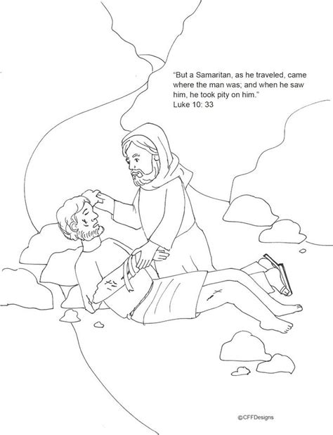 Good Samaritan Coloring Pages Coloring Home Samaritan Coloring Page