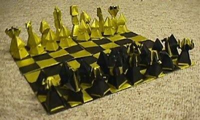 Origami Chess Pieces - chess sets brian carnell