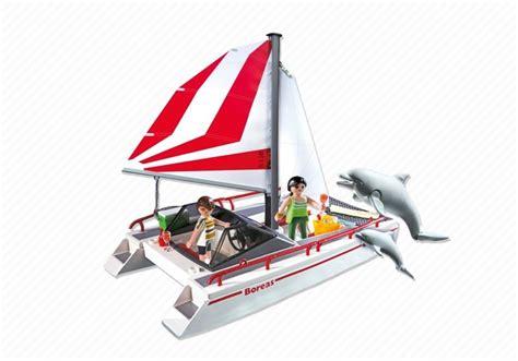 catamaran playmobil playmobil set 5130 catamaran sailboat with dolphins