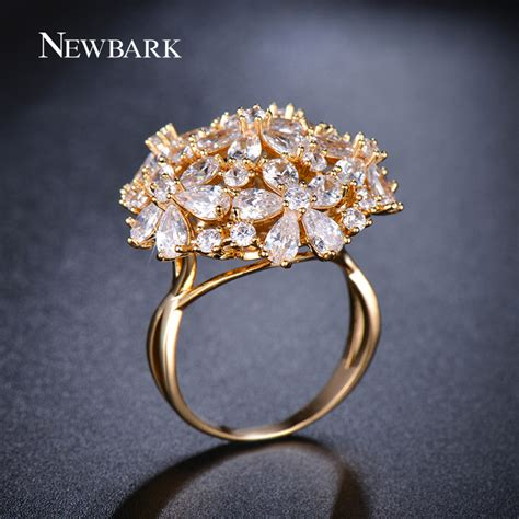 Big Rings by Aliexpress Buy Newbark Big Ring Exaggerated Flower