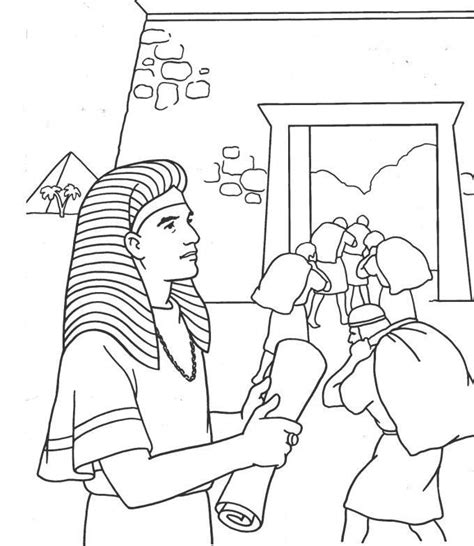 Coloring Pages And Joseph Joseph And Pharaoh Coloring Page Coloring Home by Coloring Pages And Joseph