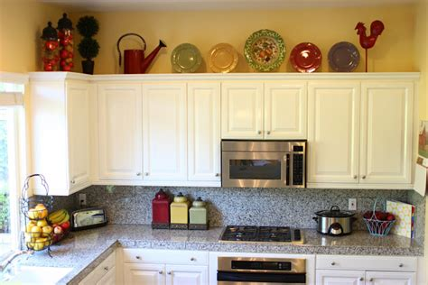 how to decorate above kitchen cabinets how to decor kitchen kitchen and decor