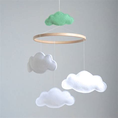 cloud mobile personalised multi cloud baby mobile by littlenestbox