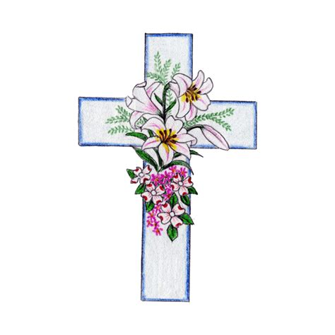 Floral Cross by Floral Cross Cross Temporary Momentary Ink