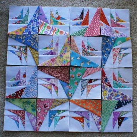 Miniature Quilt Blocks by Thirties Mini Quilt Blocks 3 1 2 Quot 16 With Border Binding