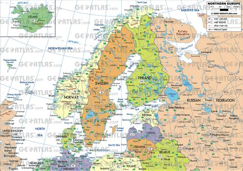 map northern europe scandinavia geoatlas europe eu scandinavia and northern europe