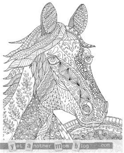 zentangle horse coloring page zentangle horse coloring page for adults plus bonus easy