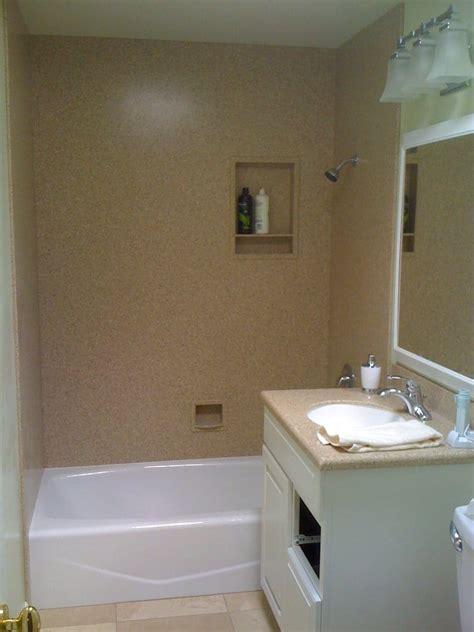 Corian Shower Corian Quot Mojave Quot Height Shower Wall Yelp