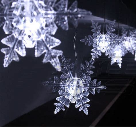 4m 0 15 led snowflake outdoor party xmas christmas string
