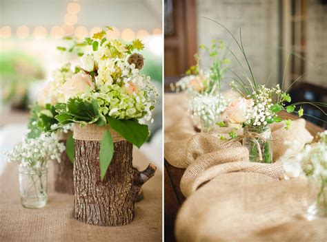 rustic log centerpieces log vases and floral pretties 187 photography