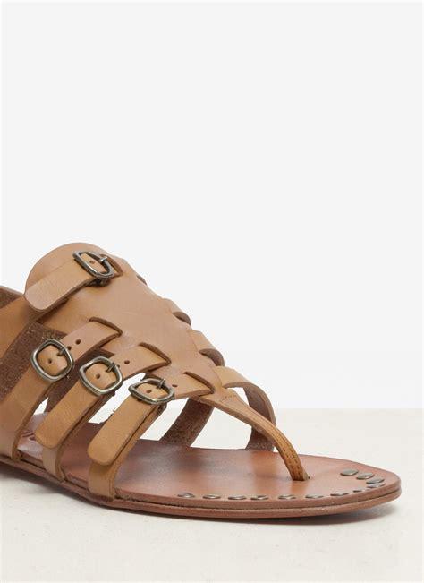 gladiator sandals brown pedro garcia gladiator sandals in brown lyst