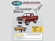 Ford Bronco 2012-2013 Parts & Accessories by MACs Antique ... Mac S Antique Auto Parts