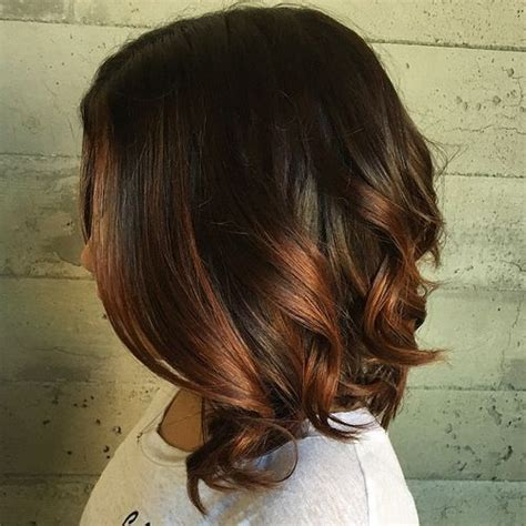 brunette hairstyles with copper highlights 40 vivid ideas for black ombre hair