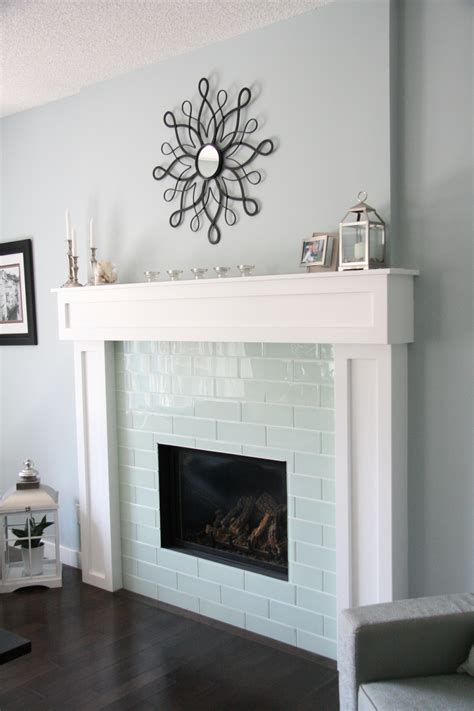 Glass Tile Fireplace Pictures by Smoke Glass 4 Quot X 12 Quot Subway Tile Glass And Gray