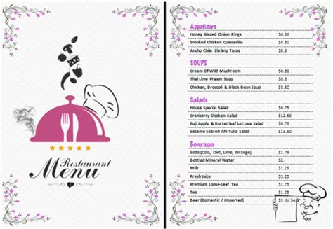 21 Free Free Restaurant Menu Templates Word Excel Formats Free Restaurant Menu Templates For Word
