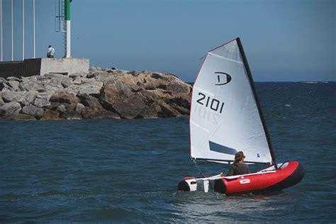 blow up sailboat dinghygo inflatable sailboat hiconsumption