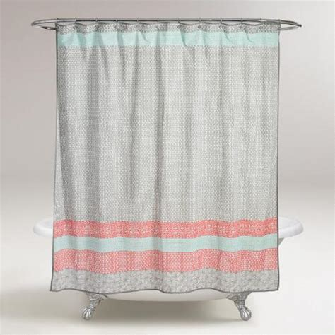 world market shower curtains dhara shower curtain world market
