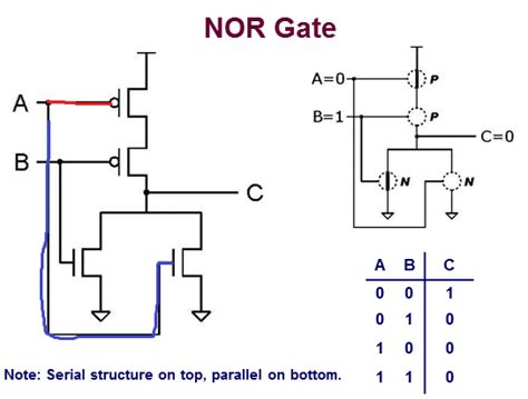 transistor nor gate circuit digital logic simple nor gate transistor level diagram electrical engineering stack exchange