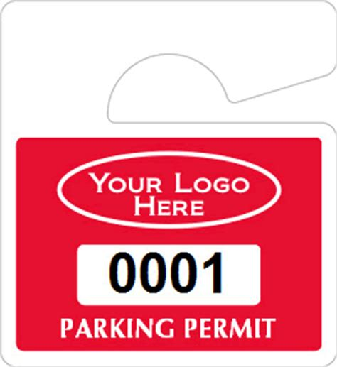 hanging parking permit template free all mini hanging parking permits
