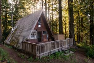 a cozy a frame tucked in california redwoods adventure