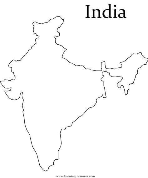 coloring pages of india map geography blog outlines maps india