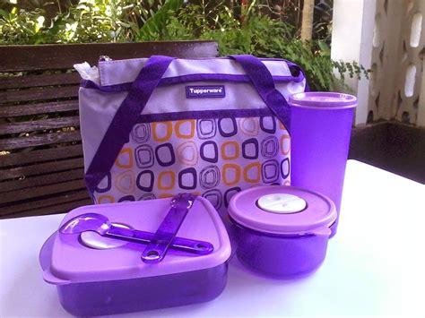Tas Botol Tupperware wadah bekal cosmo violet tupperware perlengkapan makan