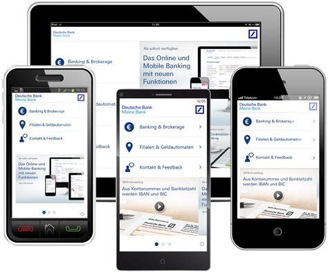 meine deutsche bank app deutsche bank app quot meine bank quot f 252 r alle smartphones und