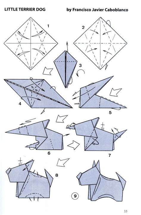 Paper Folding Guide - best 25 origami chien ideas on pliage