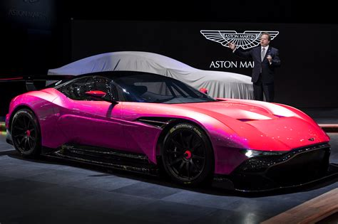 pink aston martin aston martin vulcan aptly named insanely fast legend of
