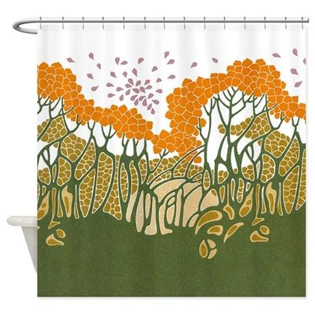 Arts And Crafts Shower Curtain by Arts And Crafts Trees Shower Curtain By Gurugoods