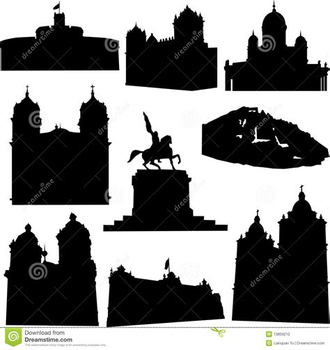 well known architects well known peru architecture stock vector image 13859210