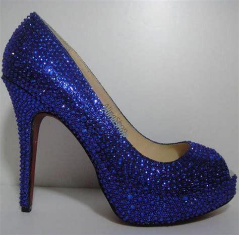 Prewalker Heels Sparkling Blue royal blue glitter heels www pixshark images