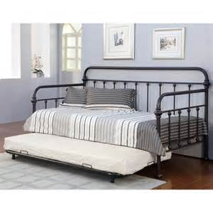 Of america lissa modern 2 piece metal daybed with trundle set