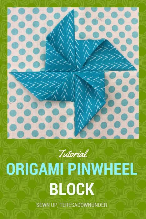 How To Make Origami Pinwheel - tutorial origami pinwheel quilt block an