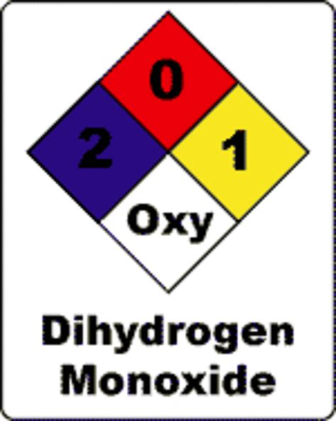 dihydrogen monoxide funny dihydrogen monoxide hoax know your meme