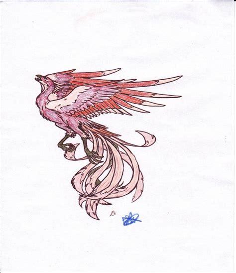 phoenix tattoo purple small purple flying phoenix bird tattoo design