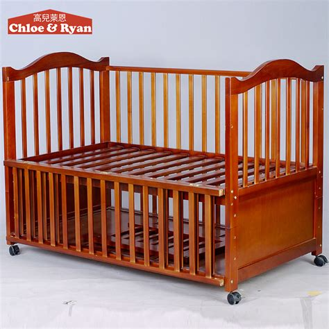Wholesale China Natural Wooden Baby Cribs Nursery Baby Cribs Wholesale