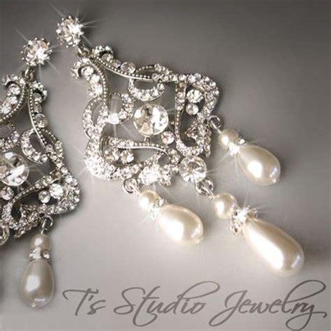 pearl chandelier bridal earrings pearl chandelier bridal earrings dangling