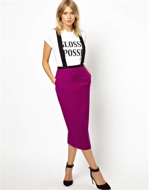 asos pencil skirt with bold suspenders brashy couture