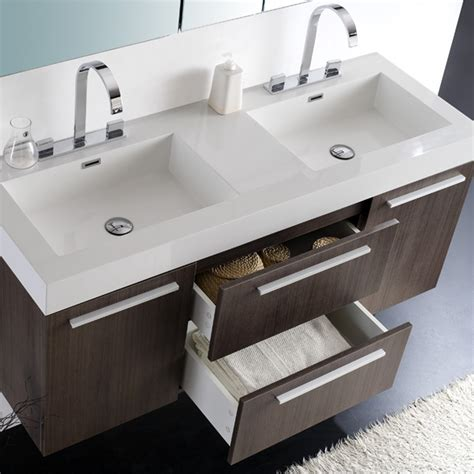 bathroom double sinks fresca fvn8013wh senza opulento white double basin