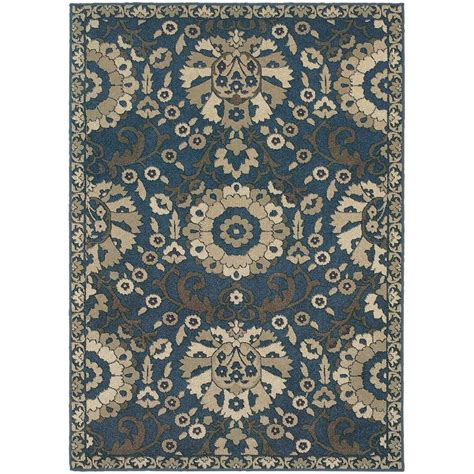lowes rugs 10 x 12 shop archer kanabe midnight rectangular indoor area rug common 10 x 13 actual 9 5 ft w