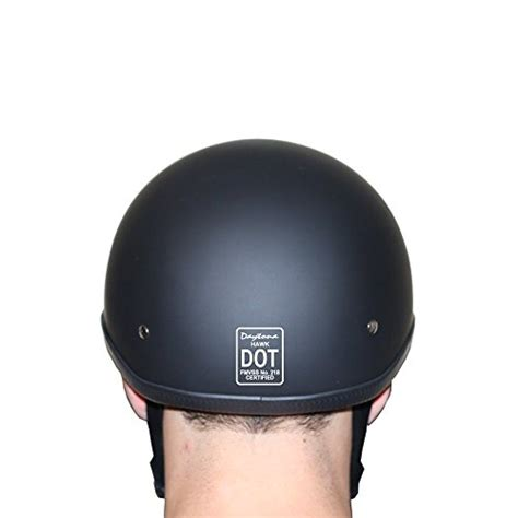 Headwrap Polos daytona helmets hawk polo style half shell helmet dull black large with wrap and draw