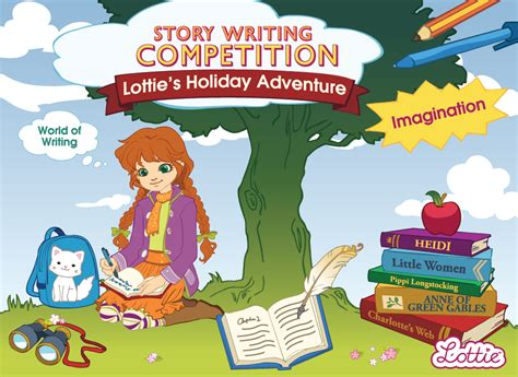 themes for story writing competition lottie dolls hosts holiday adventure story writing