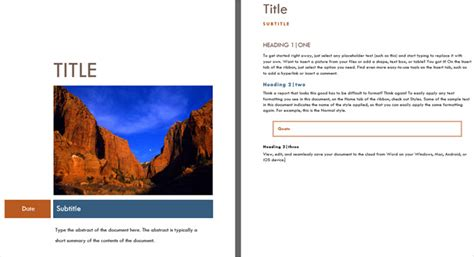 microsoft word cover page templates